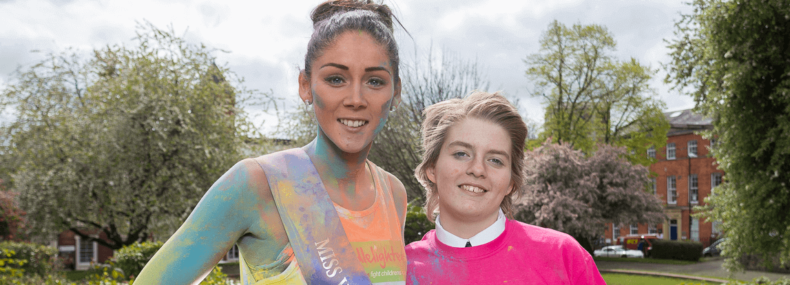 Cancer patient Hope, 13, launches Colour Me Crazy at her school