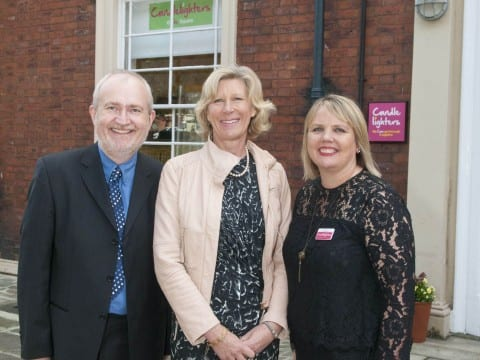 Our chair Stephen Redman, Patron Lady Ingilby & Charity Director Jo Shepheard