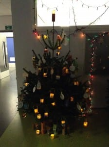Candlelighters themed Christmas tree.