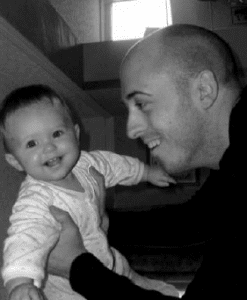 Dad Gareth with Daughter Holly