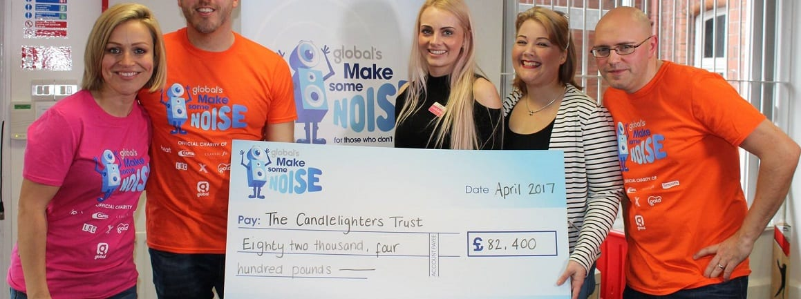 Global's Make Some Noise give £82K to Candlelighters