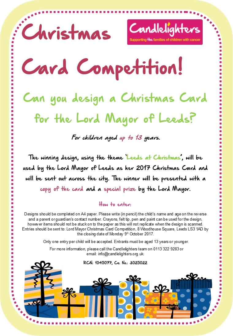 Christmas Card Competition! For Children Aged Up To 13 Years. Can You Design  The Official Christmas Card For The Lord Mayor Of Leeds?