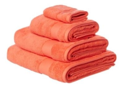 towels for coral pink room