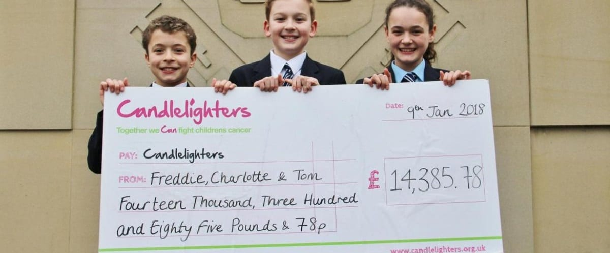 Tremendous trio raise an incredible £14,811.83 for Candlelighters