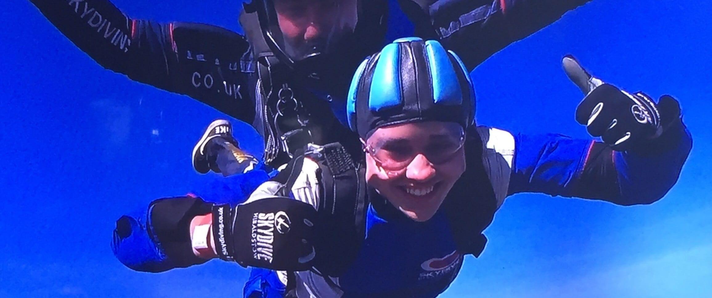 Charlie's skydive...