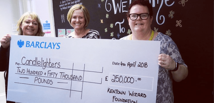 The Kentown Wizard Foundation provide incredible boost for Candlelighters Cottage Fund. The Kentown Wizard Foundation provide incredible boost for Candlelighters Cottage Fund.