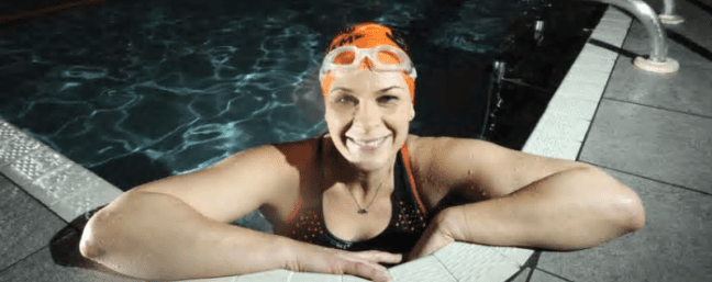 Inspirational open water swimmer has her book published and 200,000 followers reading her blog!