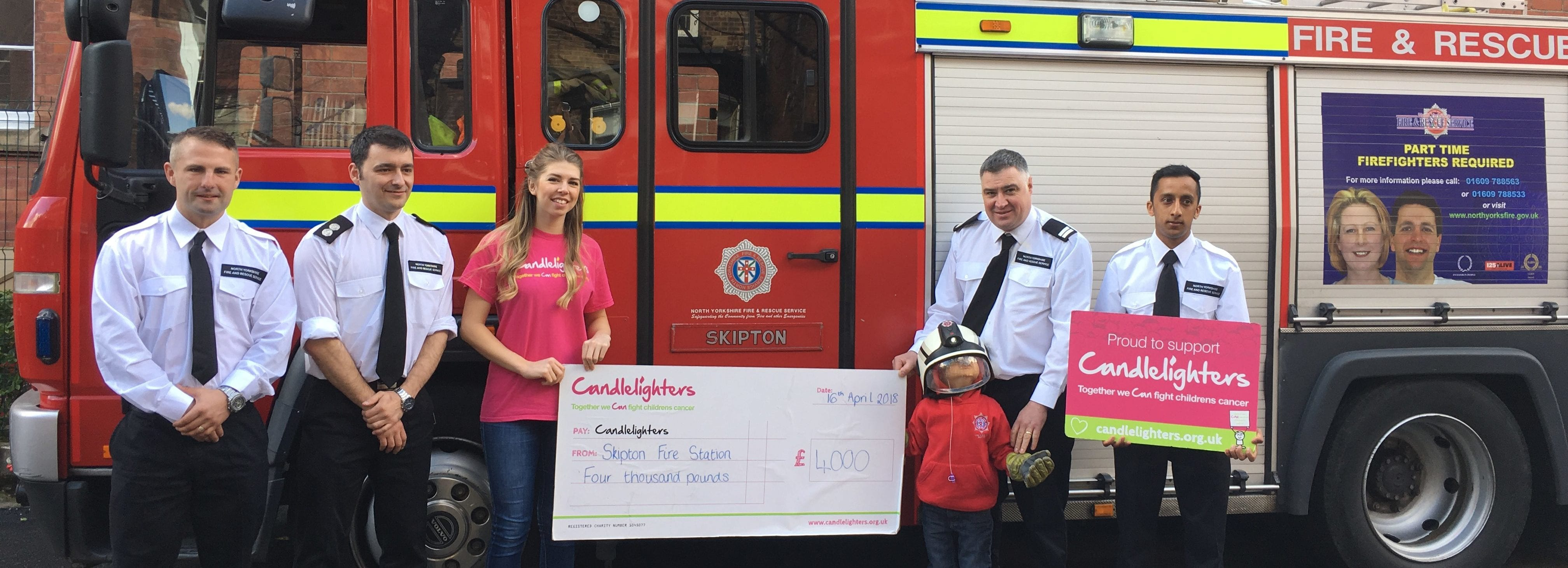 Skipton Fire Station fundraise in support of local boy, William