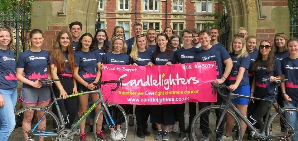 Leeds University Students raise over  £21,752 by 'Pedalling to Prague' in aid of Candlelighters
