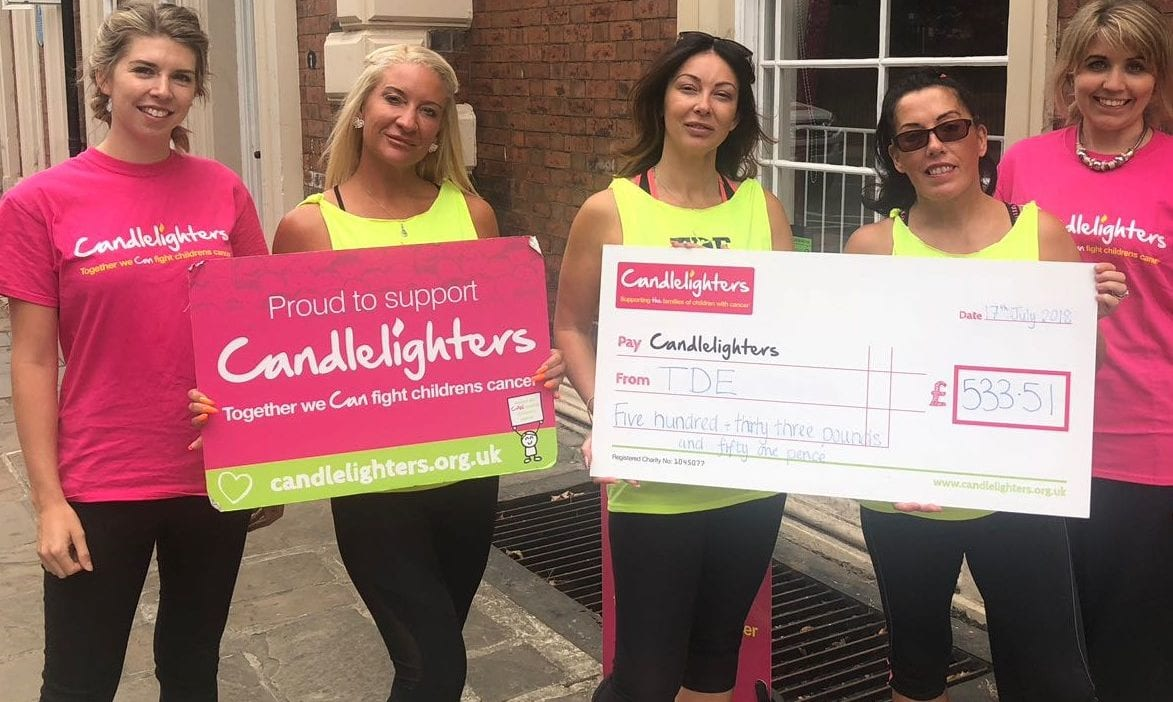 Local community Zumbathon raises whopping £533.51 for Candlelighters!
