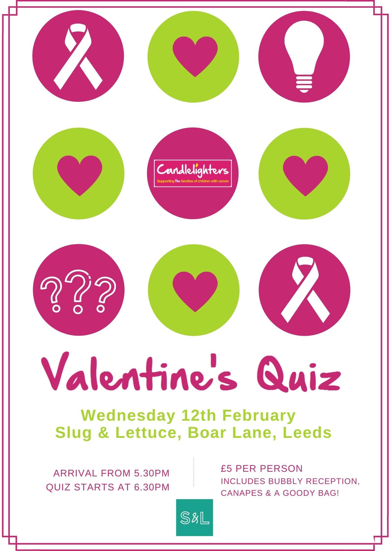 Valentine's Quiz at Slug and Lettuce!